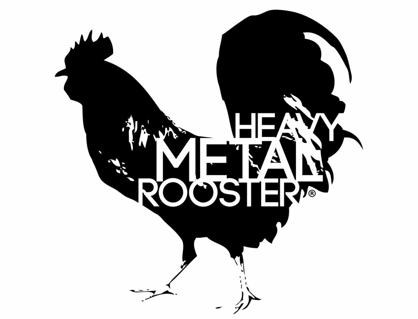 Heavy Metal Rooster Logo